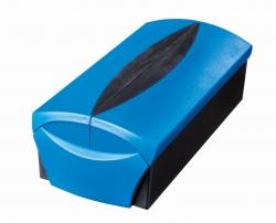 Visitenkartenbox VIP-Set -  für 500 Visitenkarten, Box+Etui, blau-schwarz