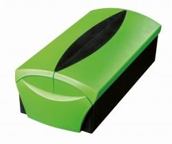 Visitenkartenbox VIP-Set -  für 500 Visitenkarten, Box+Etui, grün-schwarz