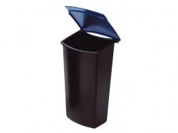 Abfalleinsatz MONDO mit Deckel, 3 Liter, schwarz-blau