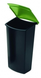 Abfalleinsatz MONDO mit Deckel, 3 Liter, schwarz-grün
