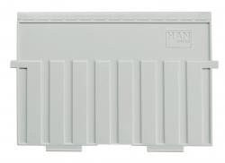 Stützplatte A5 quer, für Karteitröge und -kästen, lichtgrau