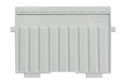 Stützplatte A6 quer, für Karteitröge und -kästen, lichtgrau