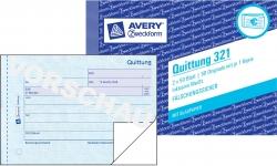 321 Quittung inkl. MwSt., DIN A6 quer, fälschungssicher, 2 x 50 Blatt, weiß