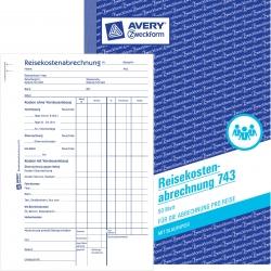 743 Reisekostenabrechnung, DIN A5, für Abrechnung pro Reise, 50 Blatt, weiß