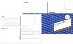 2840 Postkarte, DIN A6, vorgedruckt, 10 Karten, weiß
