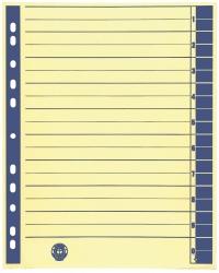 Trennblätter, farbiger Rahmendruck - A4 Überbreite, blau, 100 Stück