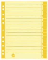 Trennblätter, farbiger Rahmendruck - A4 Überbreite, gelb, 100 Stück