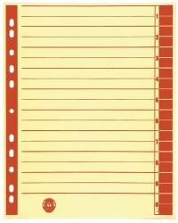 Trennblätter, farbiger Rahmendruck - A4 Überbreite, rot, 100 Stück