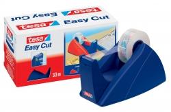 Tischabroller für Klebefilm tesa Easy Cut®, 33 m x 19 mm, royalblau Abroller