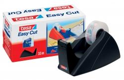 Tischabroller für Klebefilm tesa Easy Cut®, 33 m x 19 mm, schwarz Abroller