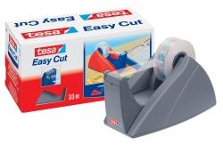 Tischabroller für Klebefilm tesa Easy Cut®, 33 m x 19 mm, silbergrau Abroller