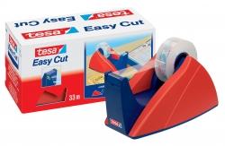 Tischabroller für Klebefilm tesa Easy Cut®, 33 m x 19 mm, rot-blau Abroller