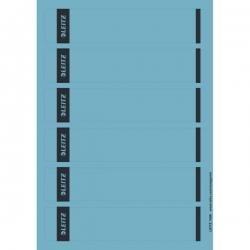 1686 PC-beschriftbare Rückenschilder - Papier, kurz/schmal, 150 Stück, blau