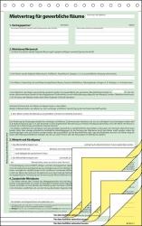 Mietvertrag für gewerbliche Räume - A4, 3 x 2 Blatt