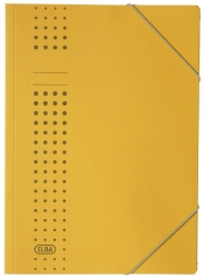 Eckspanner chic, Karton (RC), 320 g/qm, A4, gelb