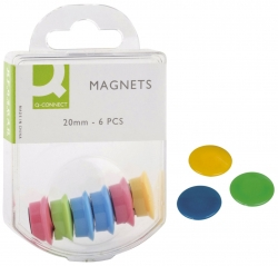 Haftmagnete - Ø 20 mm, sortiert, 6 Stück