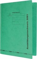 Ausbildungsnachweis-Hefter, 390g/qm Spezialkarton, grün