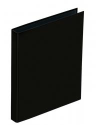 Ringbuch Basic Colours - A4, 4-Ring, Ring-Ø 25mm, schwarz