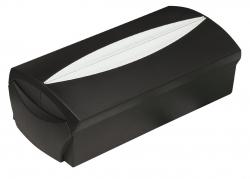 Visitenkartenbox VIP-Set -  für 500 Visitenkarten, Box+Etui, schwarz-lichtgrau