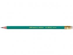 Bleistift ECOlutions EVOLUTION 655, HB, mit Radierer, grün