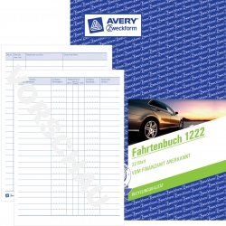 1222 Fahrtenbuch - A5, steuerlicher km-Nachweis, 32 Blatt, weiß