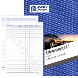 223 Fahrtenbuch - A5, steuerlicher km-Nachweis, 40 Blatt, weiß