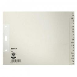 1210 Register - A - Z, Papier, A4 Überbreite, halbe Höhe, 20 Blatt, grau
