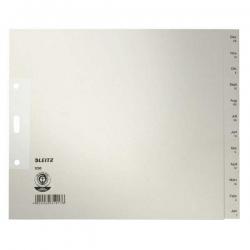 1230 Monatsregister - Dez-Jan, Papier, A4 Überbreite, 20 cm hoch, 12 Blatt, grau