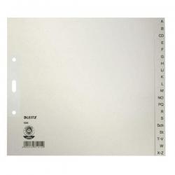 1200 Register - A - Z, Papier, A4 Überbreite, 21 cm hoch, 20 Blatt, grau