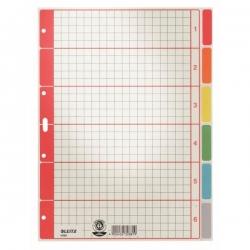 4350 Register - blanko, Karton, farbig bedruckt, A4, 6 Blatt