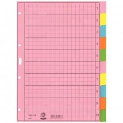 4340 Register - blanko, Papier, A4, 10 Blatt, Taben 2x 5-farbig