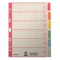 4355 Register - blanko, Karton, farbig bedruckt, A5, 6 Blatt