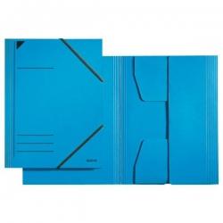 3981 Eckspannermappe - A4, 250 Blatt, Pendarec-Karton (RC), blau