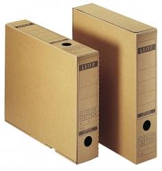 6084 Archiv-Schachtel, A4, mit Verschlusslasche, naturbraun