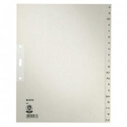 1201 Register - A - Z, Papier, A4 Überbreite, 20 Blatt, grau