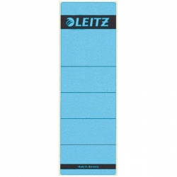 1642 Rückenschilder - Papier, kurz/breit, 10 Stück, blau