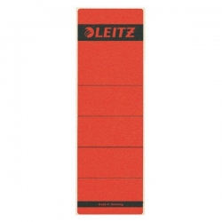 1642 Rückenschilder - Papier, kurz/breit, 10 Stück, rot