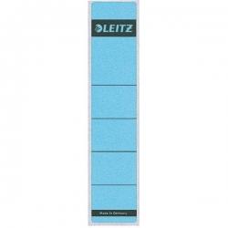 1643 Rückenschilder - Papier, kurz/schmal, 10 Stück, blau
