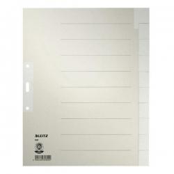 1221 Register - Tauenpapier, blanko, A4 Überbreite, 10 Blatt, grau
