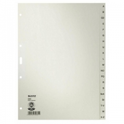 4300 Register - A - Z, Papier, A4, 30 cm hoch, 20 Blatt, grau