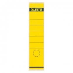 1640 Rückenschilder - Papier, lang/breit, 10 Stück, gelb