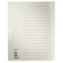 1220 Register - Tauenpapier, A4 Überbreite, 20 Blatt, grau