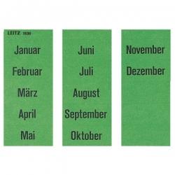 1530 Inhaltsschild Monatsnamen, selbstklebend, 120 Stück, grün