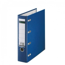 1012 Plastik-Doppelordner - 2x A5 quer, 75 mm, blau