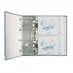 1092 Standard-Doppelordner - 2x A5 quer, 75 mm, schwarz