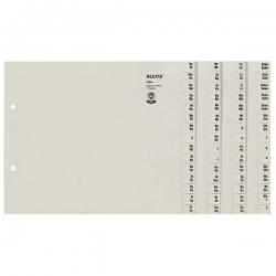 1304 Registerserie - A-Z, Papier, A4 Überbreite, für 4 Ordner, grau