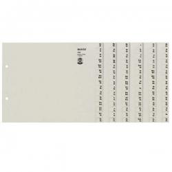 1308 Registerserie - A-Z, Papier, A4 Überbreite, für 8 Ordner, grau