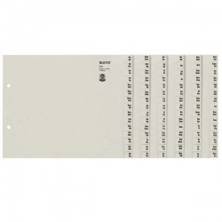 1312 Registerserie - A-Z, Papier, A4 Überbreite, für 12 Ordner, grau