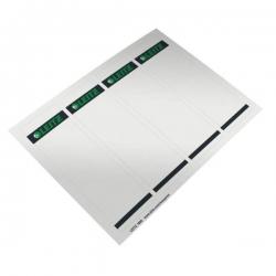 1685 PC-beschriftbare Rückenschilder - Papier, kurz/breit, 400 Stück, grau
