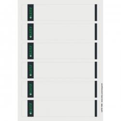 1686 PC-beschriftbare Rückenschilder - Papier, kurz/schmal, 150 Stück, grau